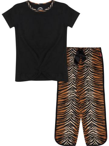 Claesens Pyjama zwart/lichtbruin