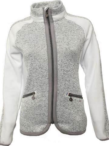 Peak Mountain Fleece vest wit/grijs