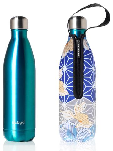 "Bbbyo* Roestvrijstalen fles ""Diamonte"" turquoise/blauw - 750 ml"