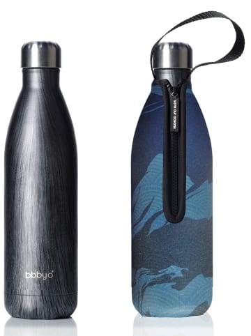 """Bbbyo* Edelstahlflasche """"Deep"""" in Schwarz/ Blau - 750 ml"""