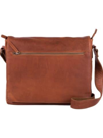 Neropantera Skórzana torebka w kolorze jasnobrązowym - 37 x 31 x 10 cm