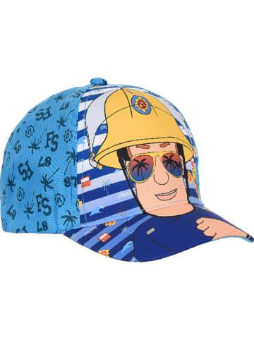 Feuerwehrmann Sam Czapka w kolorze niebieskim ze wzorem