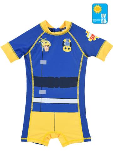 Feuerwehrmann Sam Kombinezon kąpielowy w kolorze niebiesko-żółtym