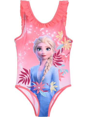 """Disney Frozen Strój kąpielowy """"Frozen"""" w kolorze jasnoróżowym ze wzorem"""