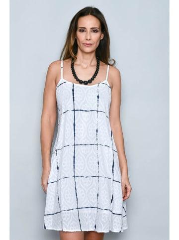 Tarifa Sukienka w kolorze biało-granatowym