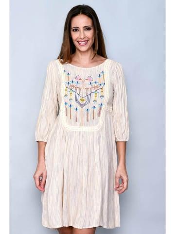 Tarifa Sukienka w kolorze beżowym ze wzorem