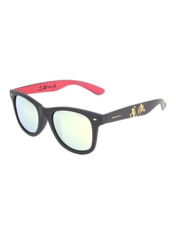 Polaroid Dameszonnebril zwart-rood/groen