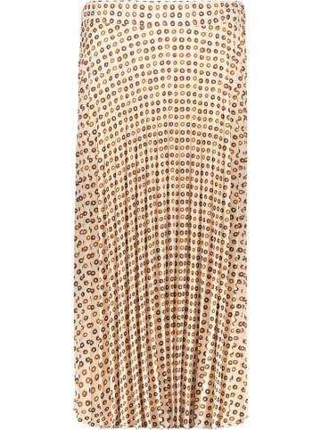 Rose Fashion & Swimwear Plissérok crème/lichtbruin