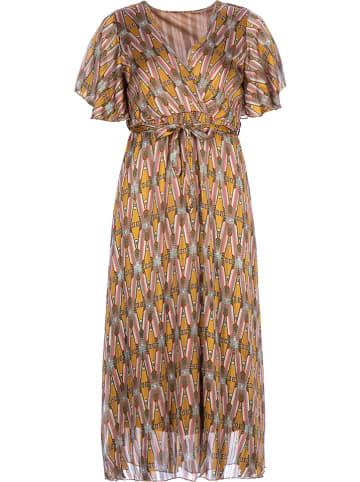 Rose Fashion & Swimwear Jurk geel/lichtbruin
