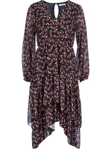 Rose Fashion & Swimwear Kleid in Braun/ Schwarz