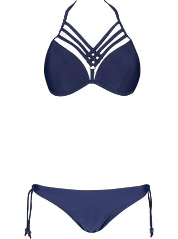 Rose Fashion & Swimwear Bikini w kolorze granatowym