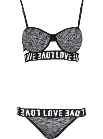 Rose Fashion & Swimwear Bikini w kolorze czarnym