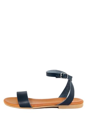 ALISSA Skórzane sandały w kolorze granatowym