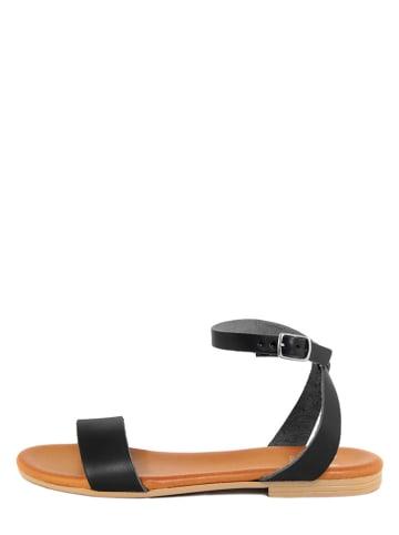 ALISSA Skórzane sandały w kolorze czarnym