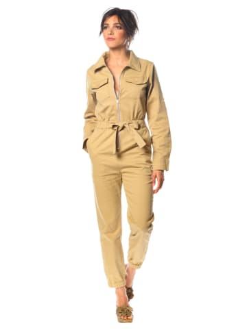"""100% Jeans Jumpsuit """"Lea"""" in Beige"""