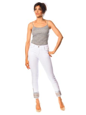 "La Belle Francaise Jeans ""Jasmine"" - Slim fit - in Weiß"