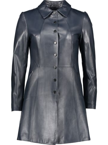 "Giovanni Leather Leren mantel ""Ella"" donkerblauw"