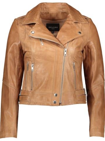 "Giovanni Leather Leren jas ""Iris"" beige"