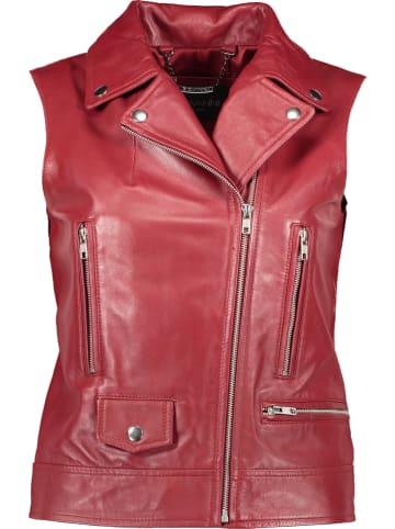 "Giovanni Leather Leren bodywarmer ""Kelly"" rood"