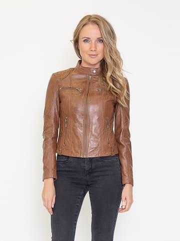"""Giovanni Leather Leren jas """"Melody"""" lichtbruin"""