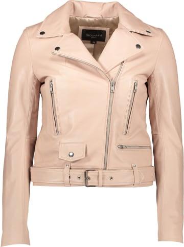 """Giovanni Leather Leren jas """"Vitaa"""" nude"""