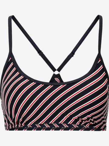 Marc O´Polo Beachwear Biustonosz bikini w kolorze granatowo-biało-czerwonym