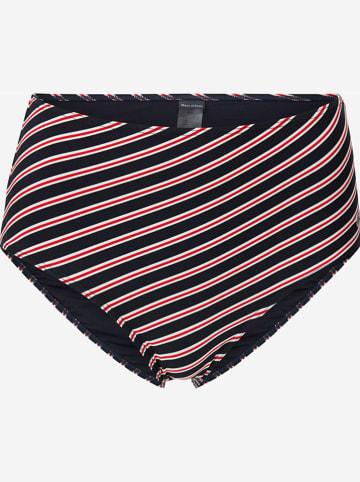 Marc O´Polo Beachwear Bikini-Hose in Dunkelblau/ Weiß/ Rot