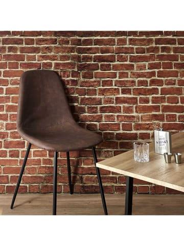 """THE HOME DECO FACTORY Krzesła (2 szt.) """"Amber"""" w kolorze brązowym - 44 x 85 x 54 cm"""
