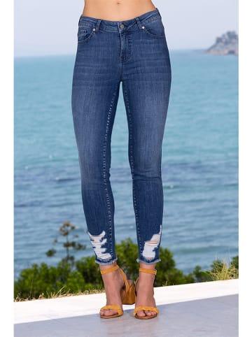 """Bleu d'Azur Jeans """"Crush"""" - Skinny fit - in Blau"""