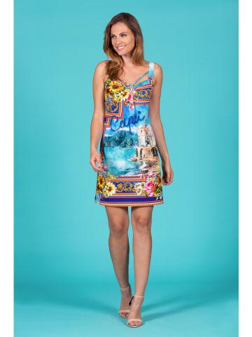 "Bleu d'Azur Kleid ""Brunella"" in Blau/ Bunt"