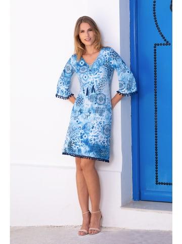"""Bleu d'Azur Kleid """"Magaila"""" in Blau/ Weiß"""