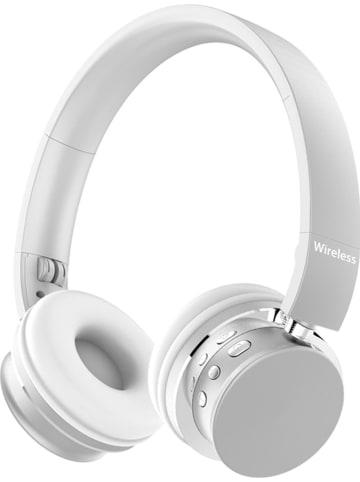 SWEET ACCESS Słuchawki bezprzewodowe Bluetooth On-Ear w kolorze srebrno-białym