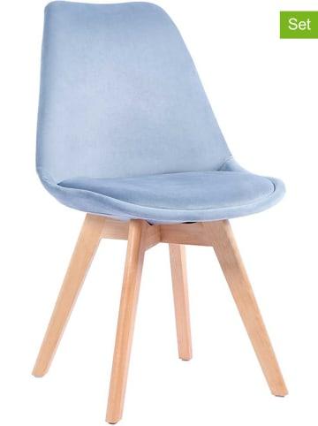 """Maison Montaigne Krzesła (4 szt.) """"Smoovel"""" w kolorze błękitnym - 50 x 83 x 58 cm"""