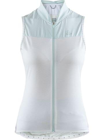 """Craft Koszulka kolarska """"Hale Glow"""" w kolorze biało-turkusowym"""