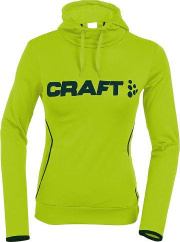 """Craft Bluza polarowa """"Logo"""" w kolorze żółtym"""