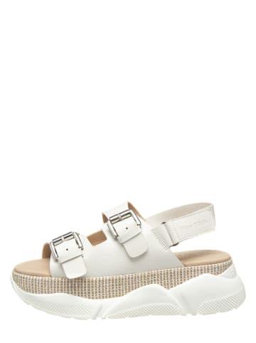 Marc O'Polo Shoes Skórzane sandały w kolorze białym