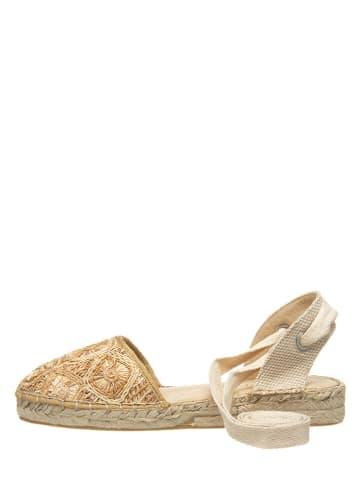 Marc O'Polo Shoes Espadryle w kolorze piaskowym