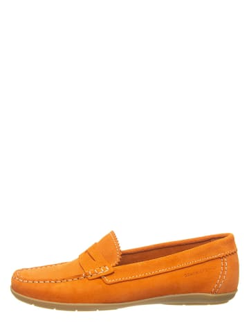 Marc O'Polo Shoes Skórzane mokasyny w kolorze pomarańczowym