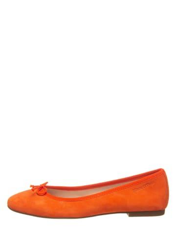 Marc O'Polo Shoes Skórzane baleriny w kolorze pomarańczowym