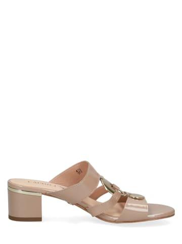 "Caprice Leren slippers ""Arielle"" beige"