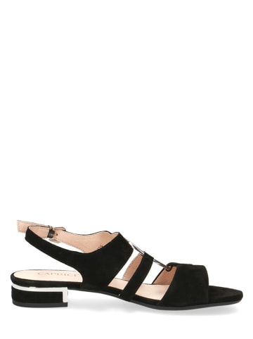 "Caprice Leren sandalen ""Ariane"" zwart"