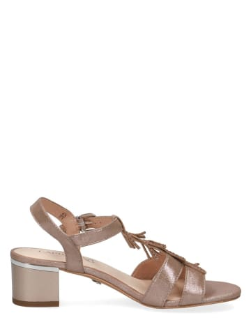 """Caprice Skórzane sandały """"Arielle"""" w kolorze szarobrązowym"""
