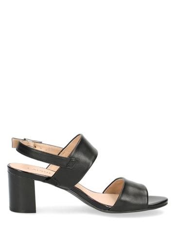 """Caprice Skórzane sandały """"Edison"""" w kolorze czarnym"""