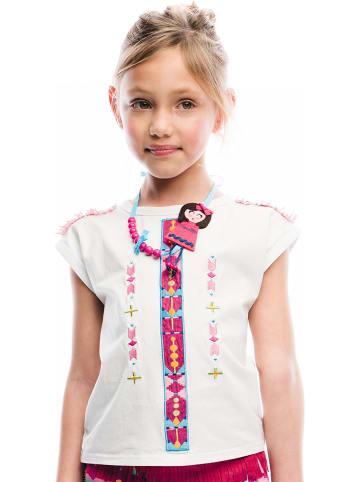 """Rosalita Señoritas Koszulka """"Billings"""" w kolorze biało-różowym"""