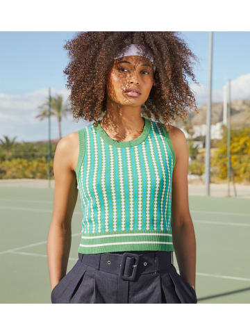 Rodier Top wit/groen/turquoise