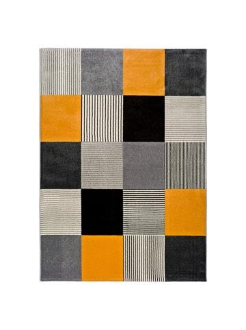 Atticgo Laagpolig tapijt grijs/geel/meerkleurig