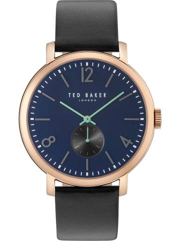Ted Baker Zegarek kwarcowy w kolorze czarno-granatowo-różowozłotym