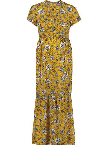 """Queen Mum Zwangerschapsjurk met voedfunctie """"Denver Sunflower"""" geel"""