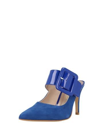 Roberto Botella Skórzane klapki w kolorze niebieskim