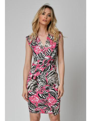 "Orna Farho Kleid ""Lavande"" in Weiß/ Schwarz/ Pink"